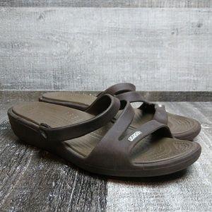 Crocs Slip On Sandal Sz womens 8